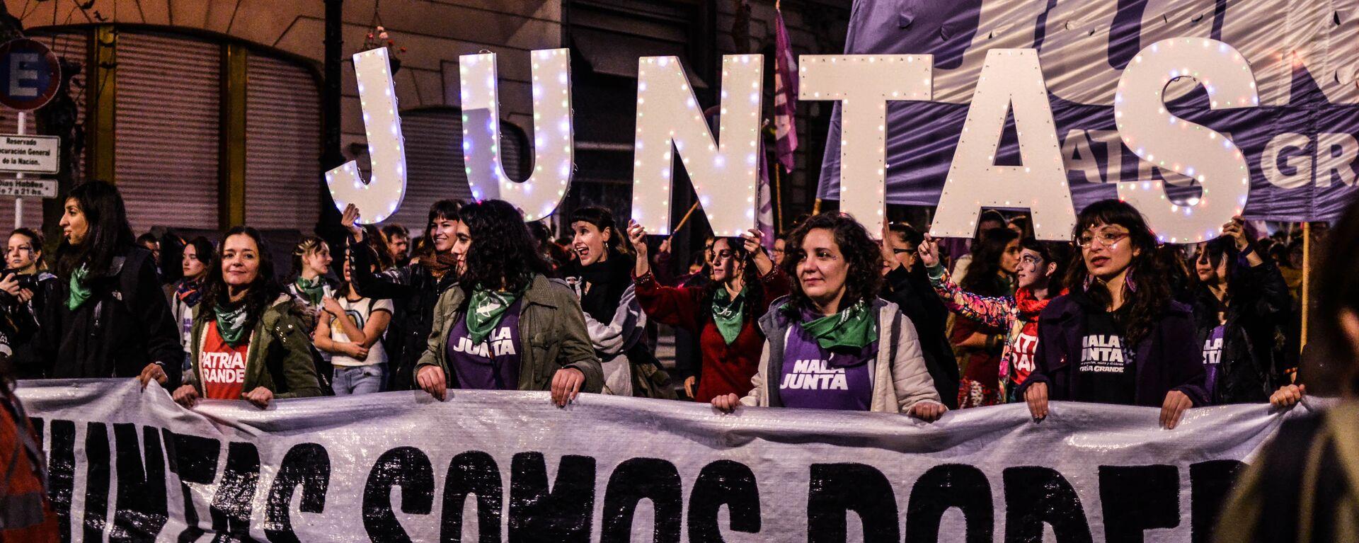 Marcha por los derechos de la mujer en Argentina - Sputnik Mundo, 1920, 03.03.2021