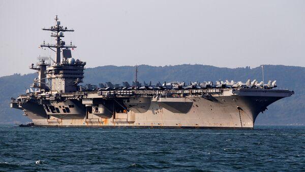 Carl Vinson, portaviones de EEUU, llega al puerto de Vietnam - Sputnik Mundo