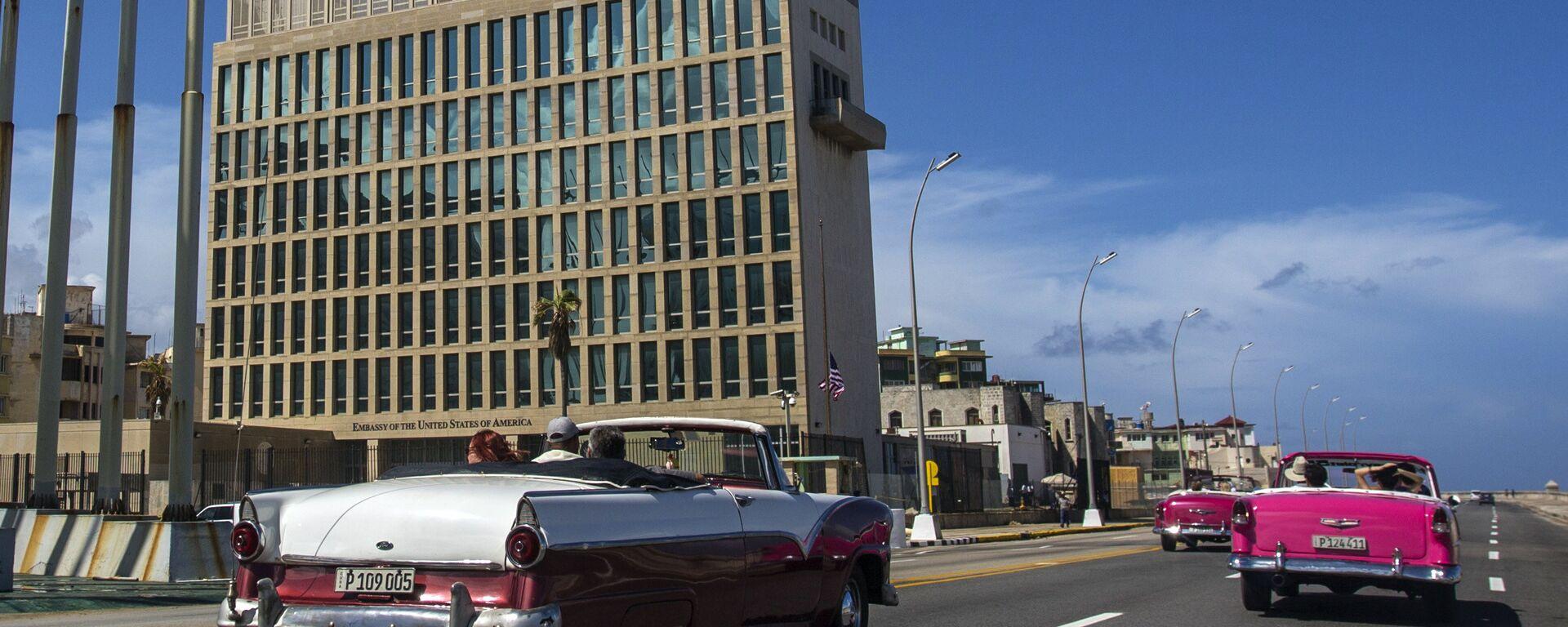 La embajada de Estados Unidos en La Habana, Cuba - Sputnik Mundo, 1920, 01.10.2021