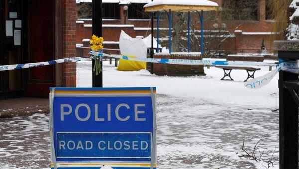 La cinta del sitio de crimen en Salisbury, el Reino Unido - Sputnik Mundo