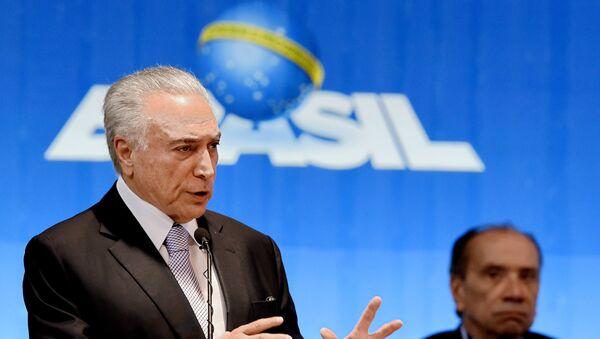 Michel Temer, el presidente brasileño - Sputnik Mundo