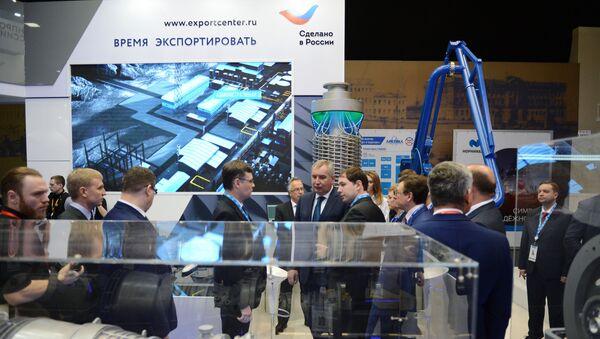 El mostrador del Centro Ruso de Exportaciones (CRE) - Sputnik Mundo