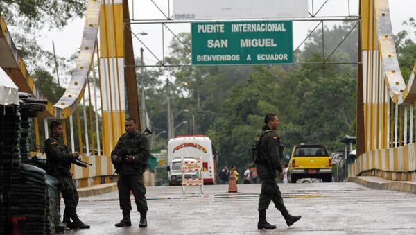 La frontera entre Colombia e Ecuador (archivo) - Sputnik Mundo