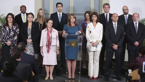 Conferencia de prensa del Grupo de Lima. - Sputnik Mundo