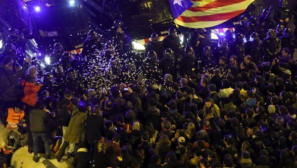 Protestas en Barcelona, España - Sputnik Mundo