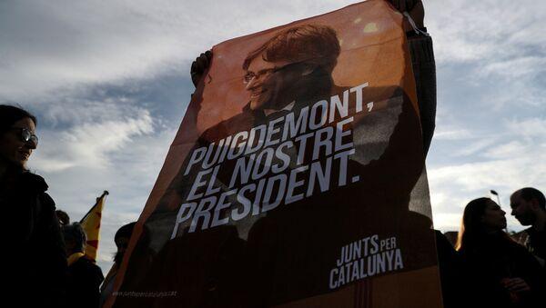 Protestas en Cataluña tras la detención de Carles Puigdemont (archivo) - Sputnik Mundo