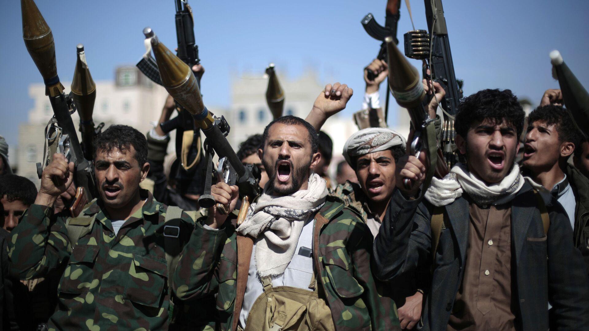 Rebeldes hutíes en Yemen (archivo) - Sputnik Mundo, 1920, 12.02.2021