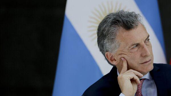 Mauricio Macri, presidente de Argentina (archivo) - Sputnik Mundo