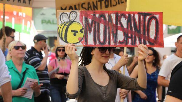 Una protesta contra Monsanto - Sputnik Mundo