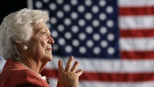 Barbara Bush, esposa del 41º presidente de EEUU, George Bush (archivo) - Sputnik Mundo