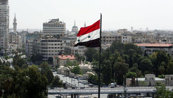 La bandera de Siria en Damasco - Sputnik Mundo