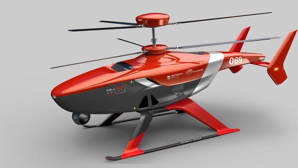 Helicóptero no tripulado VRT300 (imagen gráfico) - Sputnik Mundo