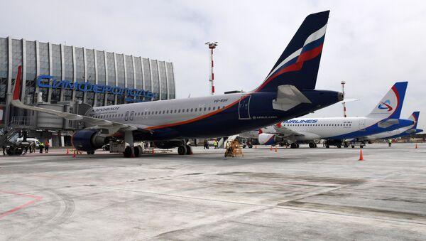 El aeropuerto de Simferópol - Sputnik Mundo