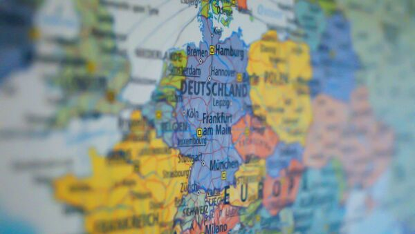 Mapa de Alemania dentro de Europa - Sputnik Mundo