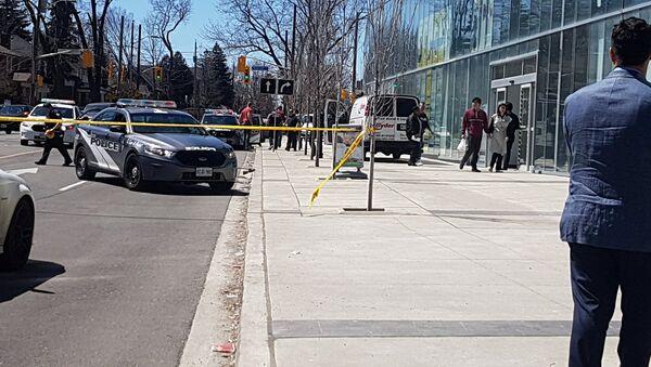 El lugar del atropello en Toronto - Sputnik Mundo