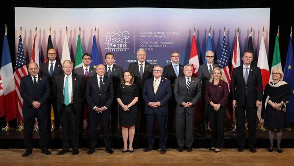 Los ministros de Asuntos Exteriores y de Seguridad del G7 en Toronto - Sputnik Mundo