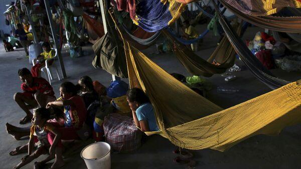 Refugiados venezolanos en Brasil (archivo) - Sputnik Mundo