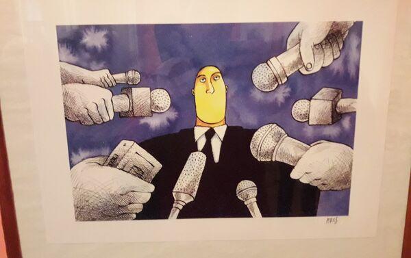 Una de las caricaturas de Ares - Sputnik Mundo