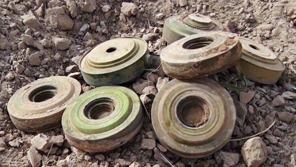 Minas terrestres en Siria (archivo) - Sputnik Mundo