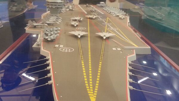 Modelo del portaviones de proyecto 23000 Shtorm (archivo) - Sputnik Mundo