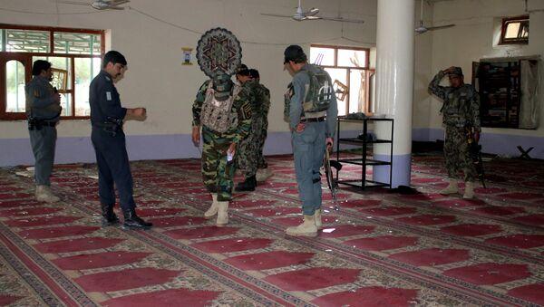 Policías afganos en el lugar del incidente - Sputnik Mundo
