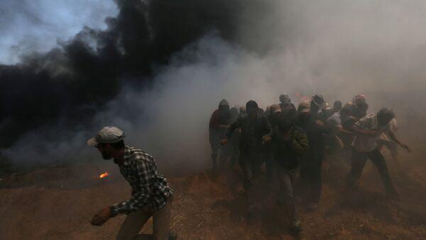 Protestas de los palestinos en la frontera entre la Franja de Gaza e Israel - Sputnik Mundo
