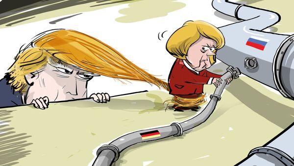 ¡No des luz verde al Nord Stream 2! Trump intenta atraer a Merkel a la posición de EEUU - Sputnik Mundo
