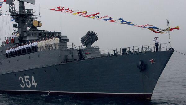 Un buque de la Flota Rusa del Pacífico - Sputnik Mundo