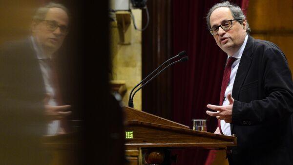 Quim Torra, nuevo presidente de la Generalitat de Cataluña - Sputnik Mundo