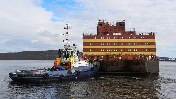 El encuentro de la unidad de energía nuclear flotante Akademik Lomonosov en Múrmansk - Sputnik Mundo