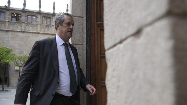El ministro del Interior del Gobierno catalán, Joaquim Forn, archivo - Sputnik Mundo