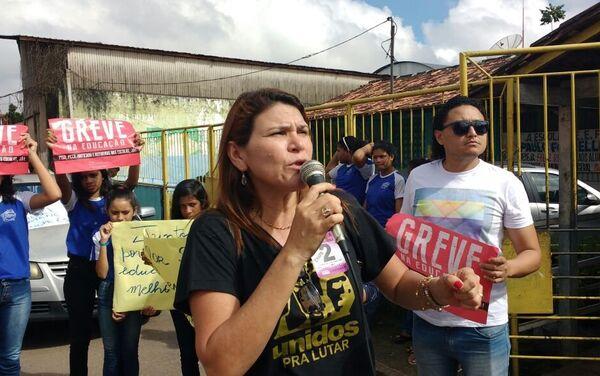 La sindicalista Silvia Letícia, del gremio de trabajadores de la Educación Pública del Estado brasileño de Pará - Sputnik Mundo