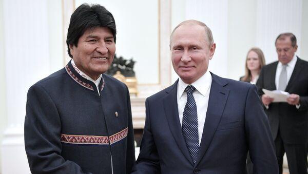 Presidente de Bolivia, Evo Morales y presidente de Rusia, Vladímir Putin - Sputnik Mundo