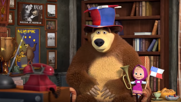Captura de pantalla de 'Masha y el Oso' - Sputnik Mundo