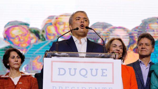 Iván Duque, el presidente electo de Colombia - Sputnik Mundo