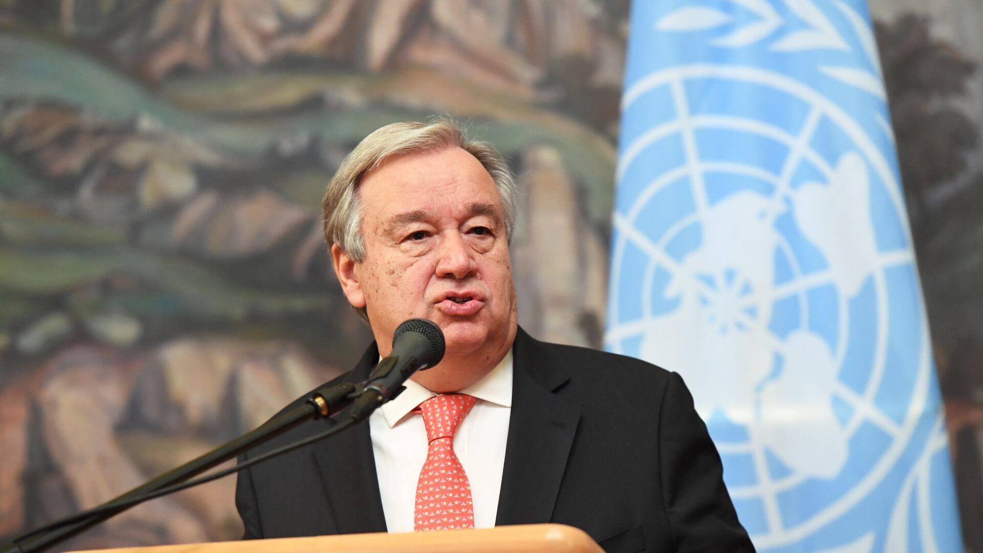 Antonio Guterres, secretario general de la ONU - Sputnik Mundo, 1920, 08.03.2021