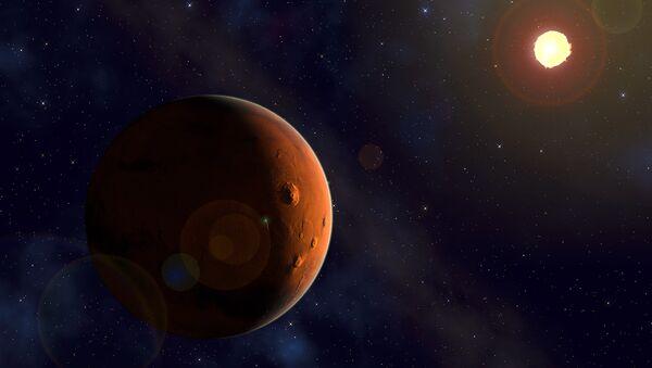 Marte y el Sol, imagen referencial - Sputnik Mundo