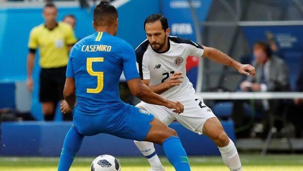 El partido entre Brasil y Costa Rica - Sputnik Mundo