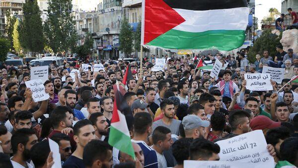 Protesta en Gaza - Sputnik Mundo