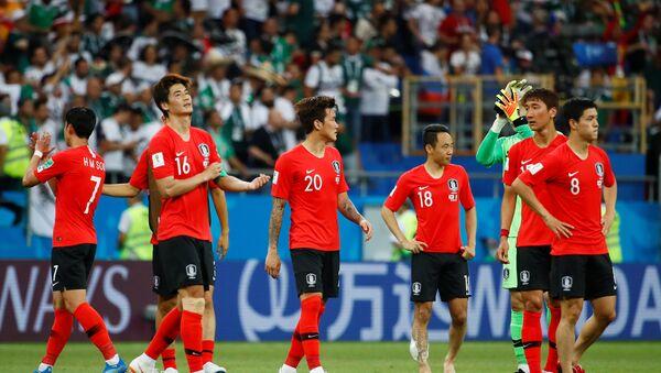 Jugadores de la selección surcoreana - Sputnik Mundo