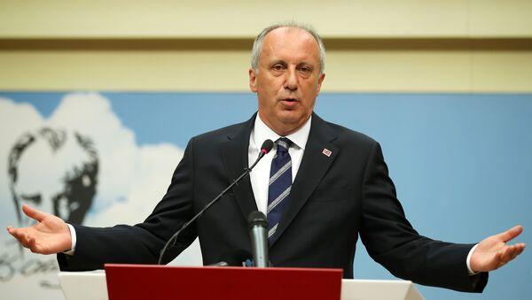 El candidato opositor Muharrem Ince - Sputnik Mundo