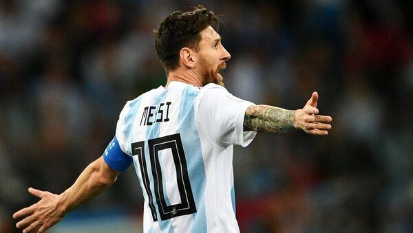 Lionel Messi, delantero argentino - Sputnik Mundo