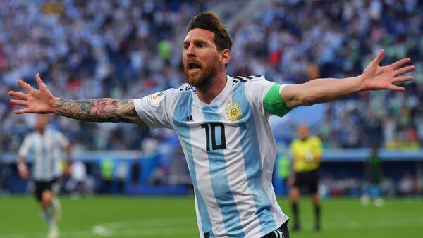 Lionel Messi, jugador argentino - Sputnik Mundo