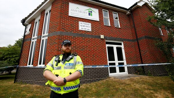 Policía británica en Amesbury, Reino Unido - Sputnik Mundo