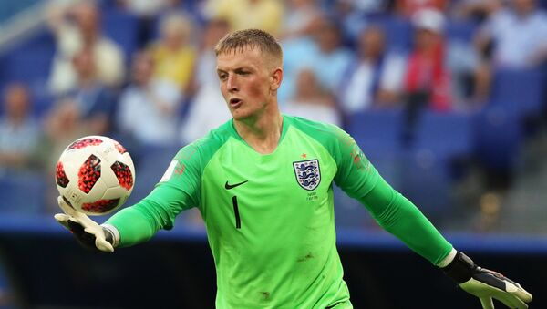 Jordan Pickford, portero de la selección de Inglaterra - Sputnik Mundo