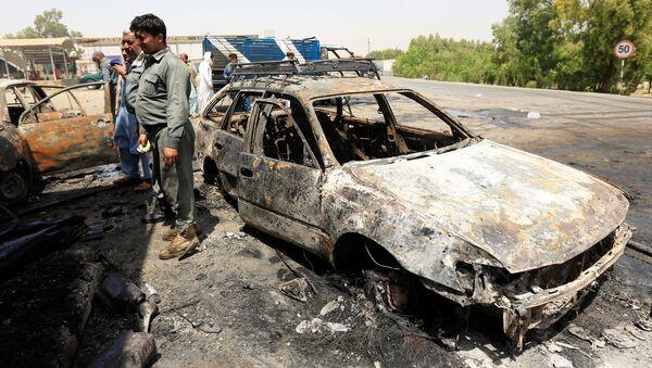 Lugar del ataque en Jalalabad, Afganistán - Sputnik Mundo