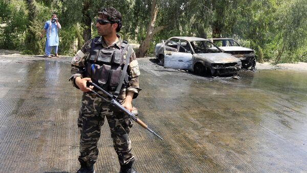 Policía en el lugar del ataque en Jalalabad, Afganistán (archivo) - Sputnik Mundo