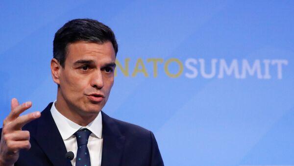El presidente del Gobierno de España, Pedro Sánchez, en la cumbre de la OTAN - Sputnik Mundo