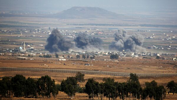 Situación en los Altos del Golán, cerca de la frontera entre Siria e Israel - Sputnik Mundo