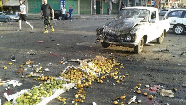 El lugar del atentado en el sur de Siria - Sputnik Mundo